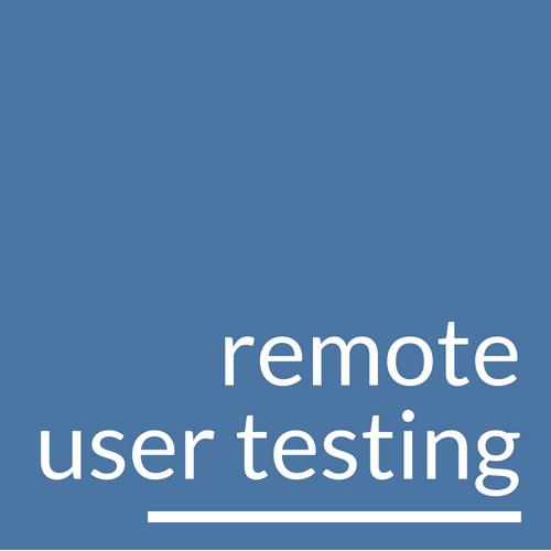 Remote User Testing