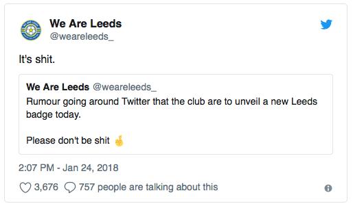 WeAreLeeds Tweet