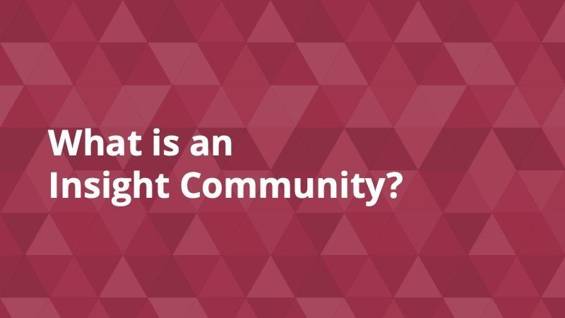 What is an insight community