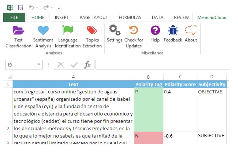 Meaningcloud Screenshot