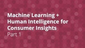 Machine Learning for Consumer Insights - Insight Platforms - Part 1
