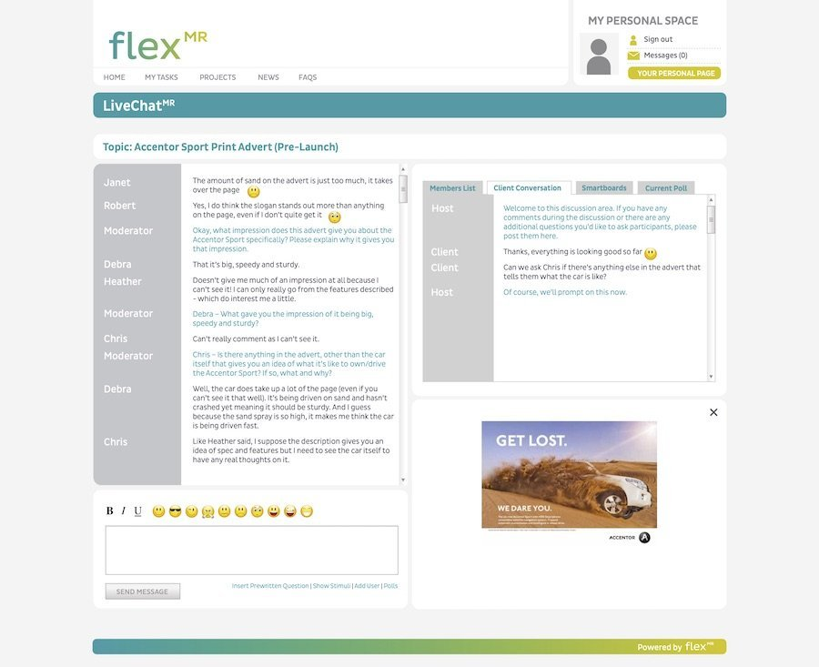 FlexMR LiveChat Software - Online Qualitative Research - Insight Platforms