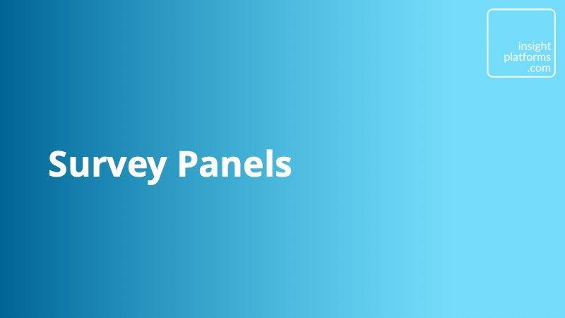 Survey Panels Category - Insight Platforms