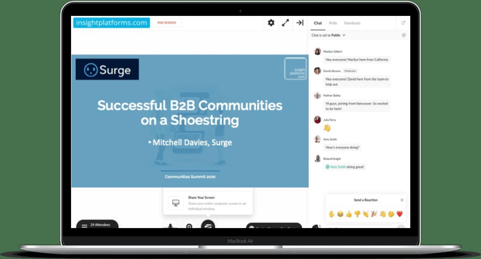 Communities Summit Webinar Room - Insight Platforms