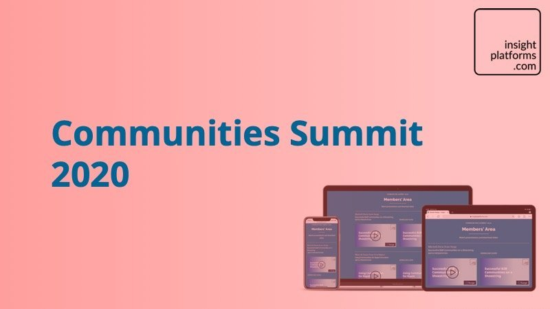Communities Summit Landing Page - Featured Image - Insight Platforms