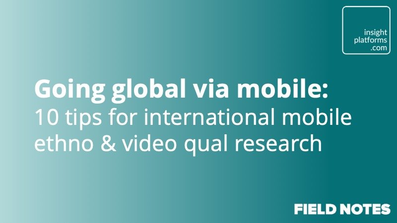 Going global via mobile - Insight Platforms