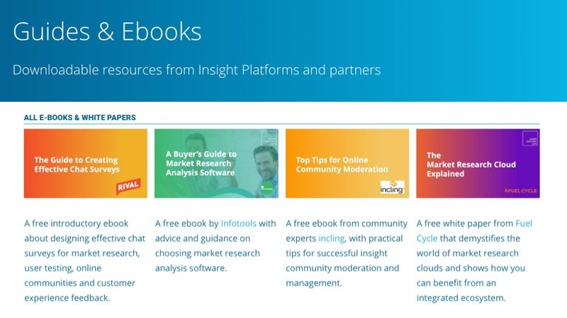 Guides and Ebooks - Insight Platforms