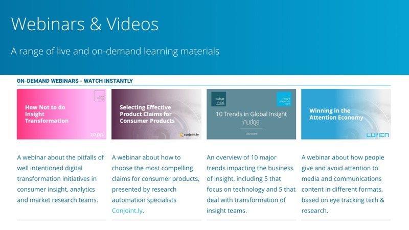Webinars - Insight Platforms