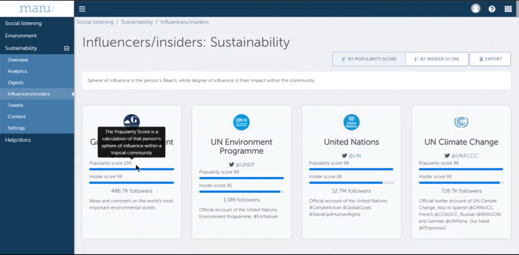 Maru-HUB Demo Screenshot - Influencer Analytics - Insight Platforms.png