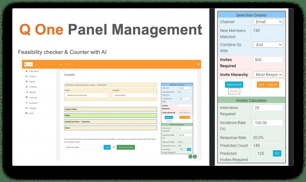 Q One Tech Demo Screenshot - 6-click Feasibility - Insight Platforms